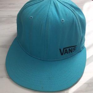 Vans -  L-XL Aqua Blue Baseball Hat. flexfit.
